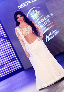 Priyanka Chopra in White Ghagra Choli