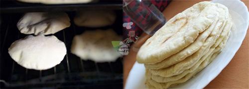 Homemade Shawarma Bread in a Pan on stove shawarma wrap pita bread Naan bread Flat Bread