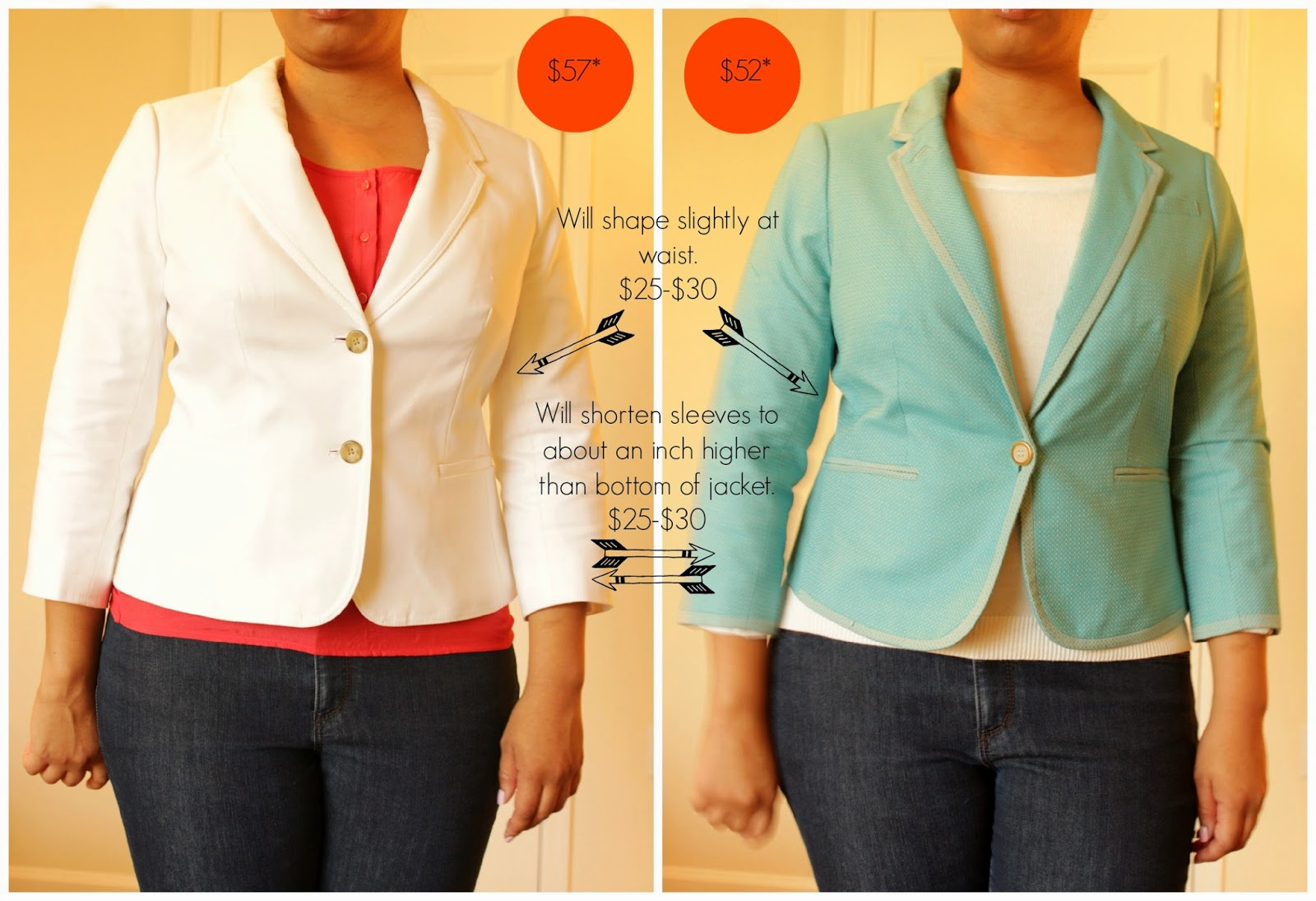 the limited petite white and blue blazer