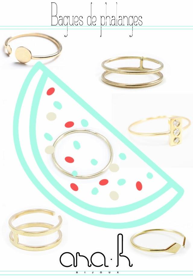 Bagues de phalanges or - bijoux createur
