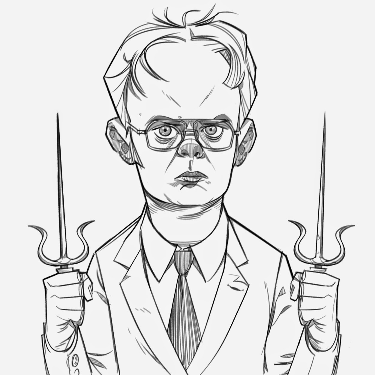 Drawing Lines In Office : P hen sketch two doodle post dwight schrute and