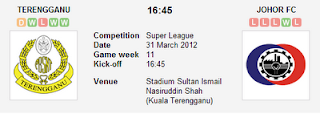 Live Streaming Terengganu VS Johor FC 31 Mac 2012 - Liga Super 2012