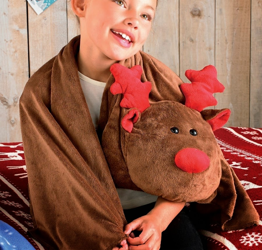 Reindeer Head Blanket
