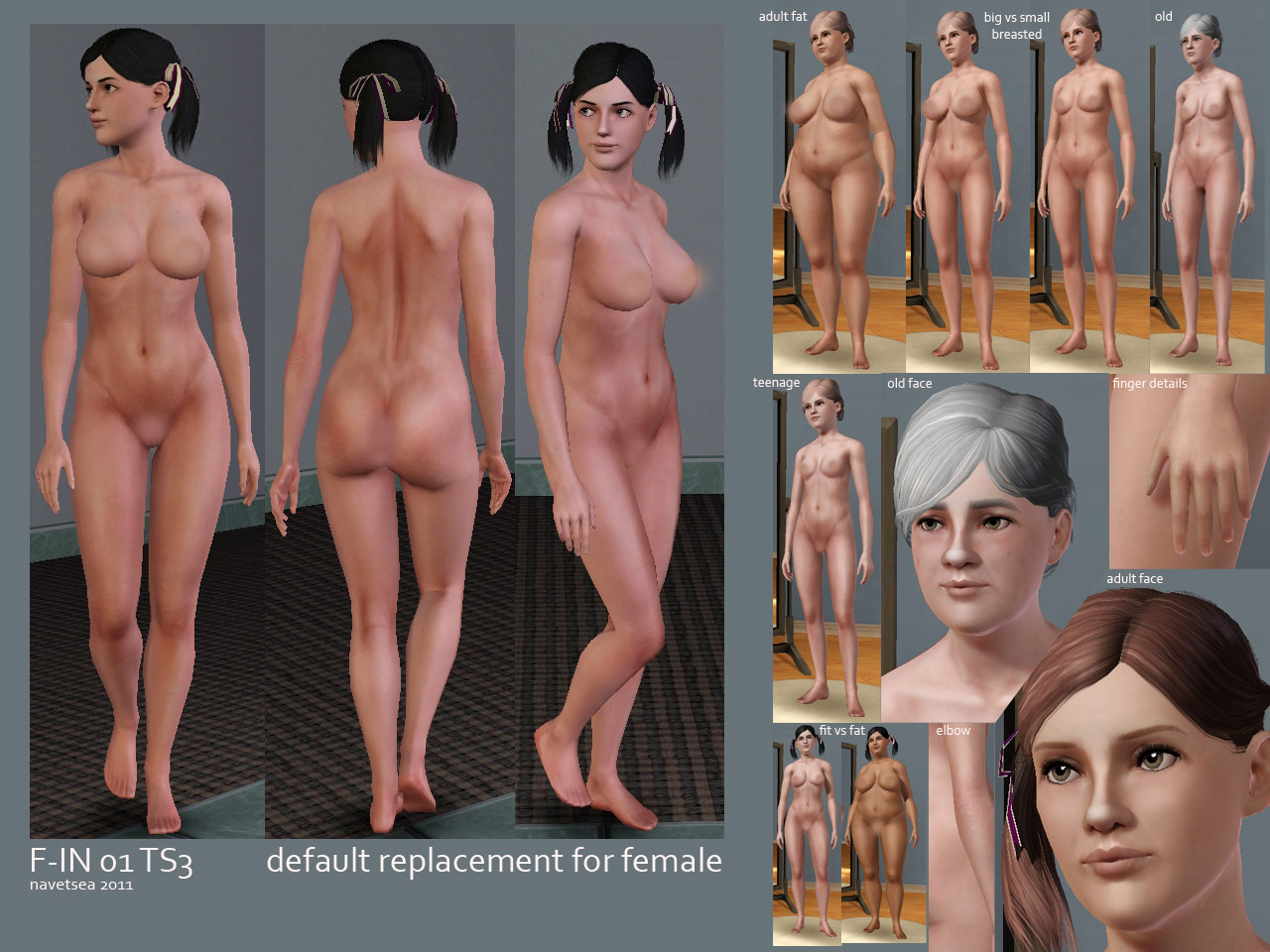 Nude skins for sims 3 naked pictures