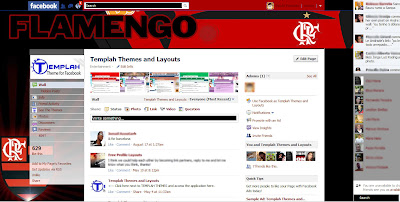 facebook skin layout - Tema para Facebook do Flamengo