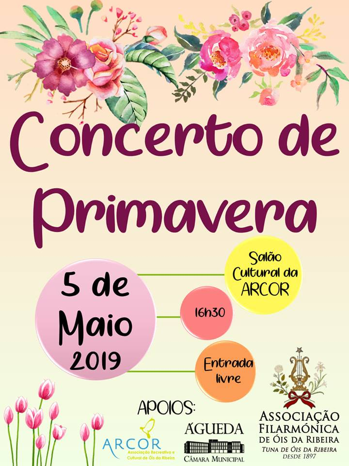 CONCERTO DA PRIMAVERA DA TUNA / AFOR A 5 DE MAIO DE 2019!