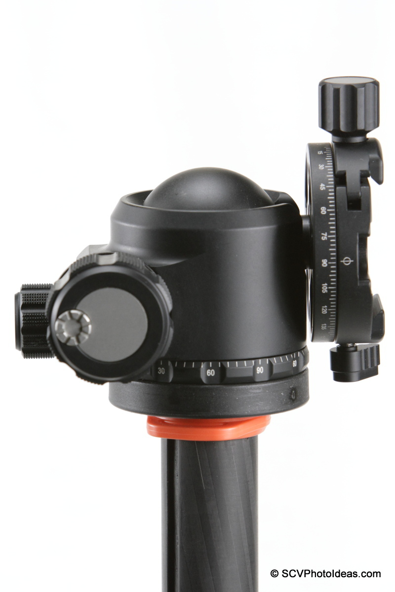 Sunwayfoto DDH-03 PC on XB-44 LP ball head - tilted lever issue