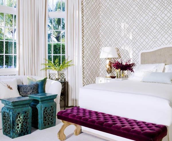 como decorar con muebles chinos - dormitorio taburetes