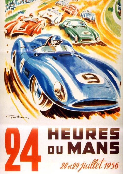Affiche officielle des 24 Heures du Mans 1956