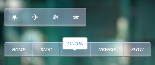 Tooltip Effect Navigation Menu Widget For Blogger