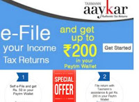 Aaykar : e-File Income Tax Returns & Get upto Rs. 200 Paytm Wallet Cash