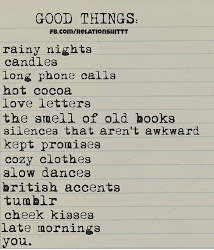 Good things I love