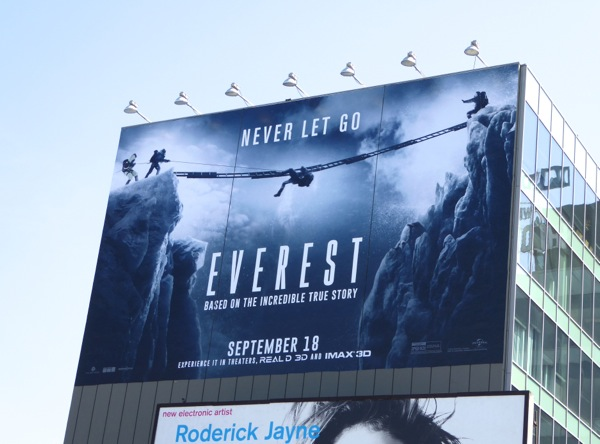 Everest giant movie billboard
