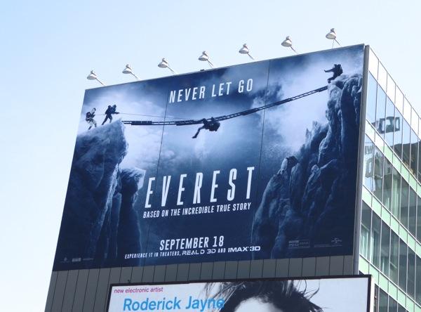 Everest giant movie billboard
