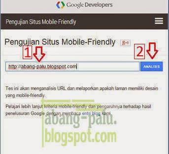 cara mengetahui web/blog yang mobile friendly