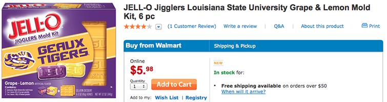 LSU Jell-O Jigglers Mold Kit