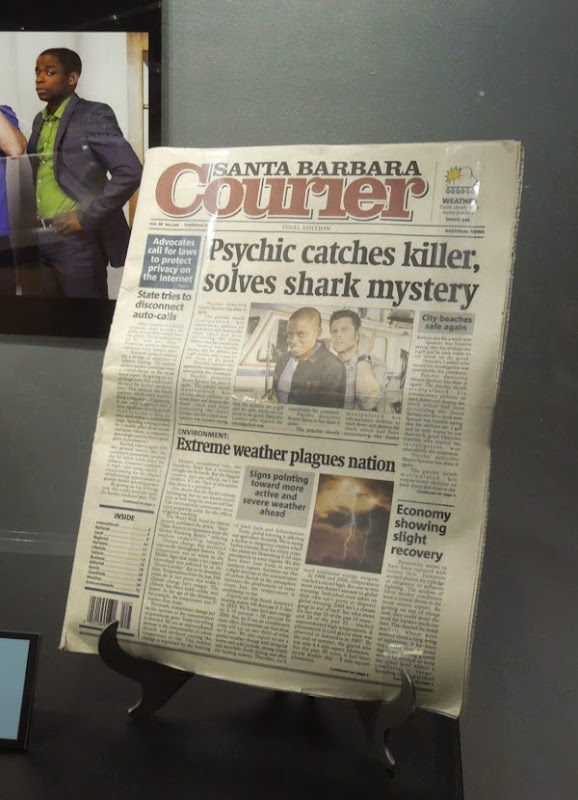 Psych Santa Barbara Courier newspaper prop