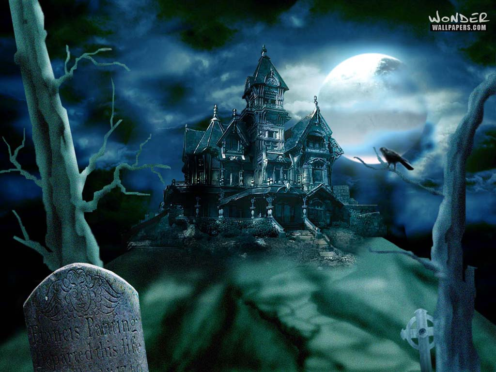 31 Spooky Halloween Desktop Wallpapers for 2015 - halloween scary house wallpapers