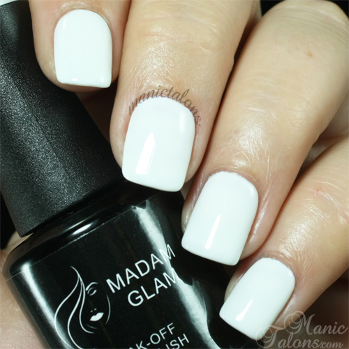 Madam Glam Gel Polish Perfect White Swatch