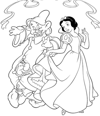 Disney Princess Snow White Coloring Page
