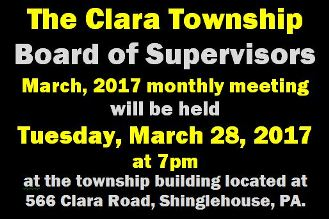3-28 Clara Township Meeting