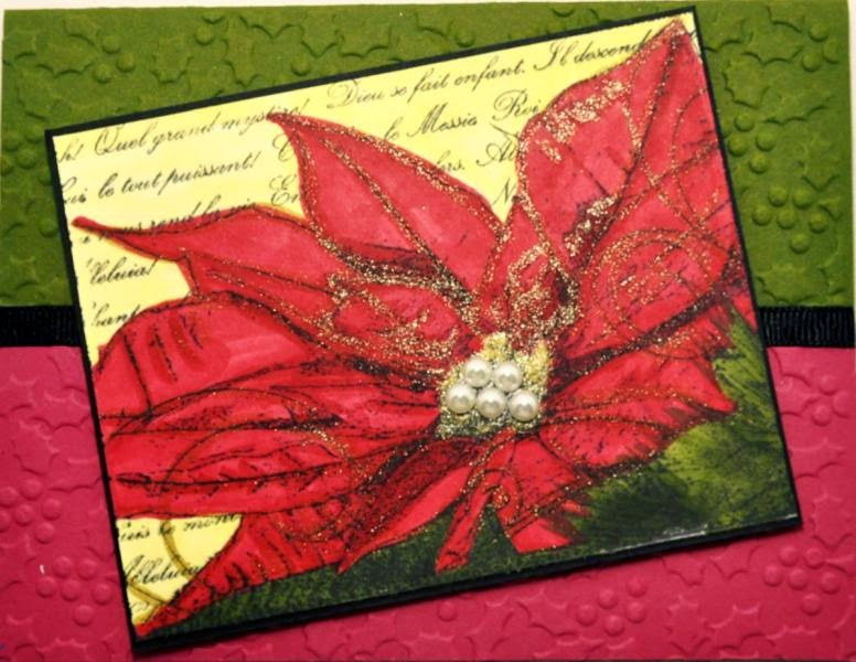 Our Daily Bread designs Poinsettia Collage, Customer Card of the Day by Sue Craig