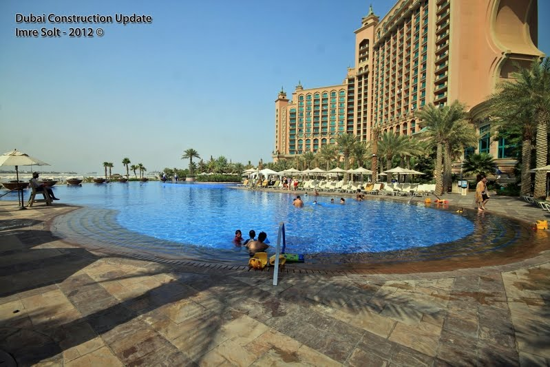 Dubai Constructions Update By Imre Solt Atlantis The Palm Hotel Beach And Swimming Pool Photos