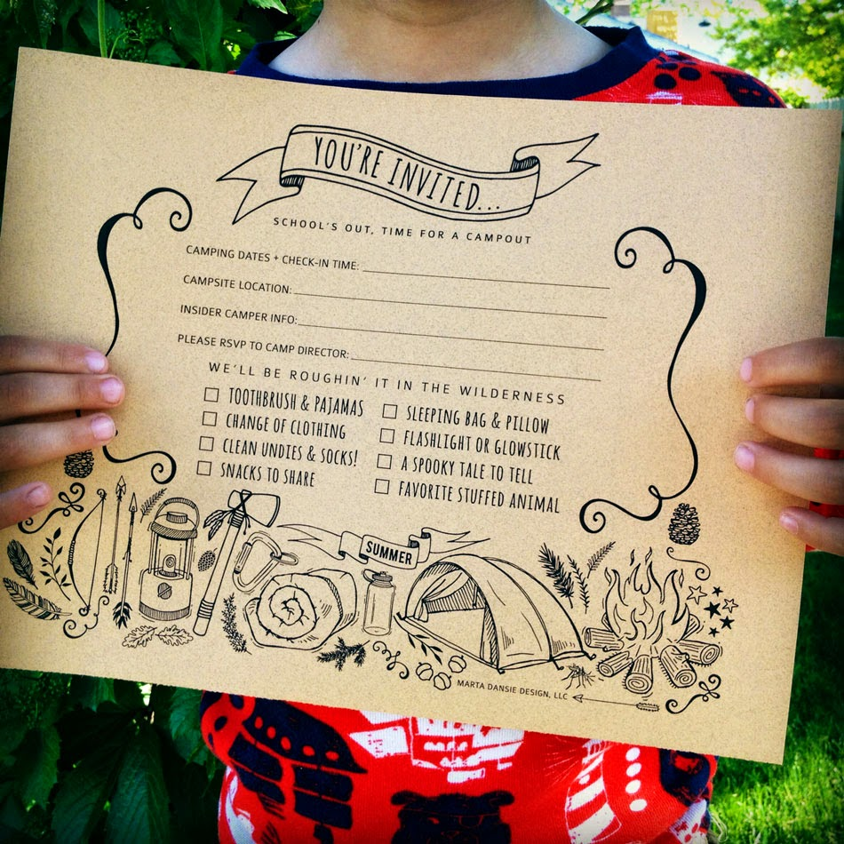 marta writes kids camping party ideas printables – Treasure Hunt Party Invitations