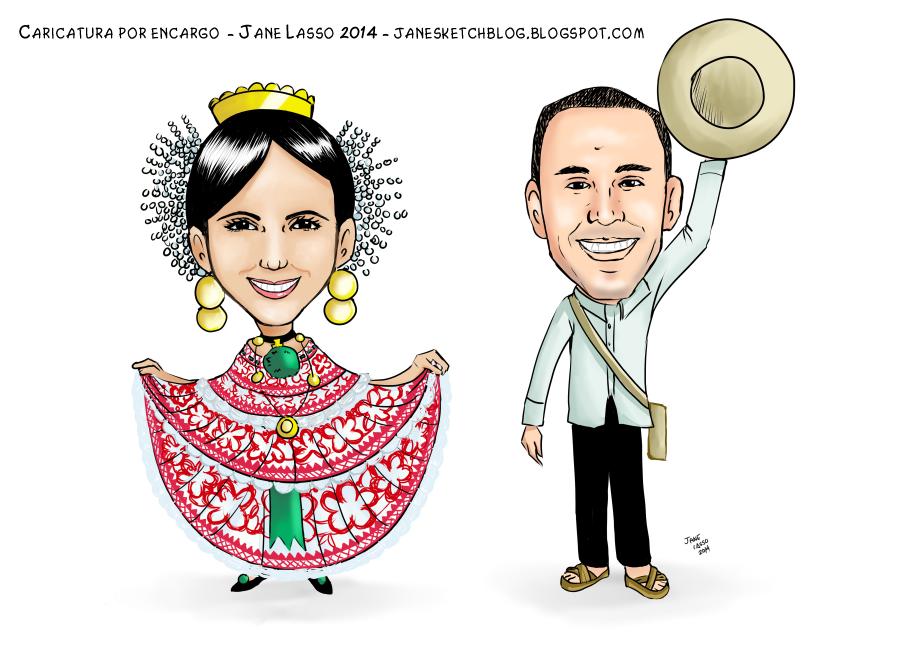 Caricatura para matrimonio panameño