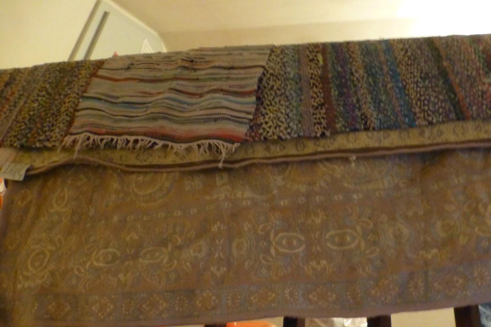 Teppiche werden getrocknet