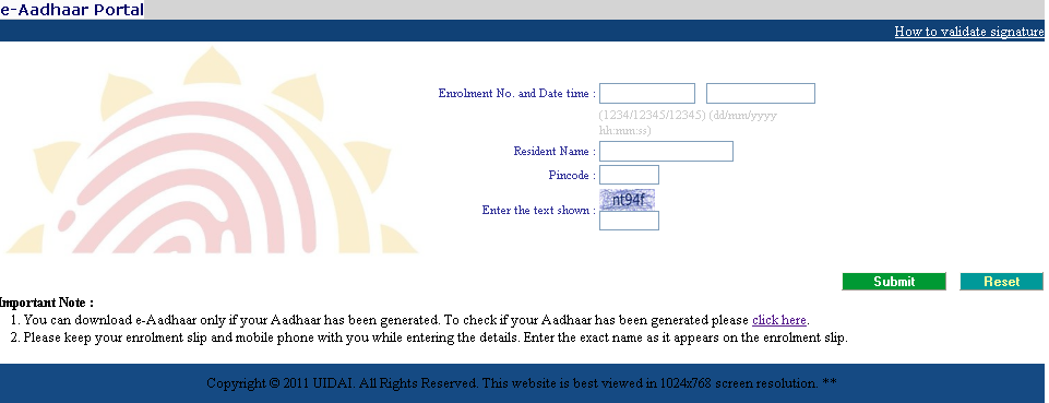 how to download aadhaar card online take a printout of your aadhaar card. Black Bedroom Furniture Sets. Home Design Ideas