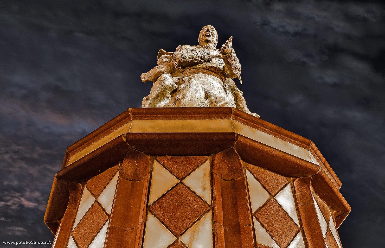 en el Paseo del Chorrillo busto dedicado al carnavalero Guti Rota