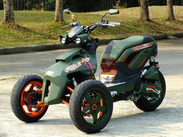 Modifikasi Honda Zoomer-X motor roda tiga title=