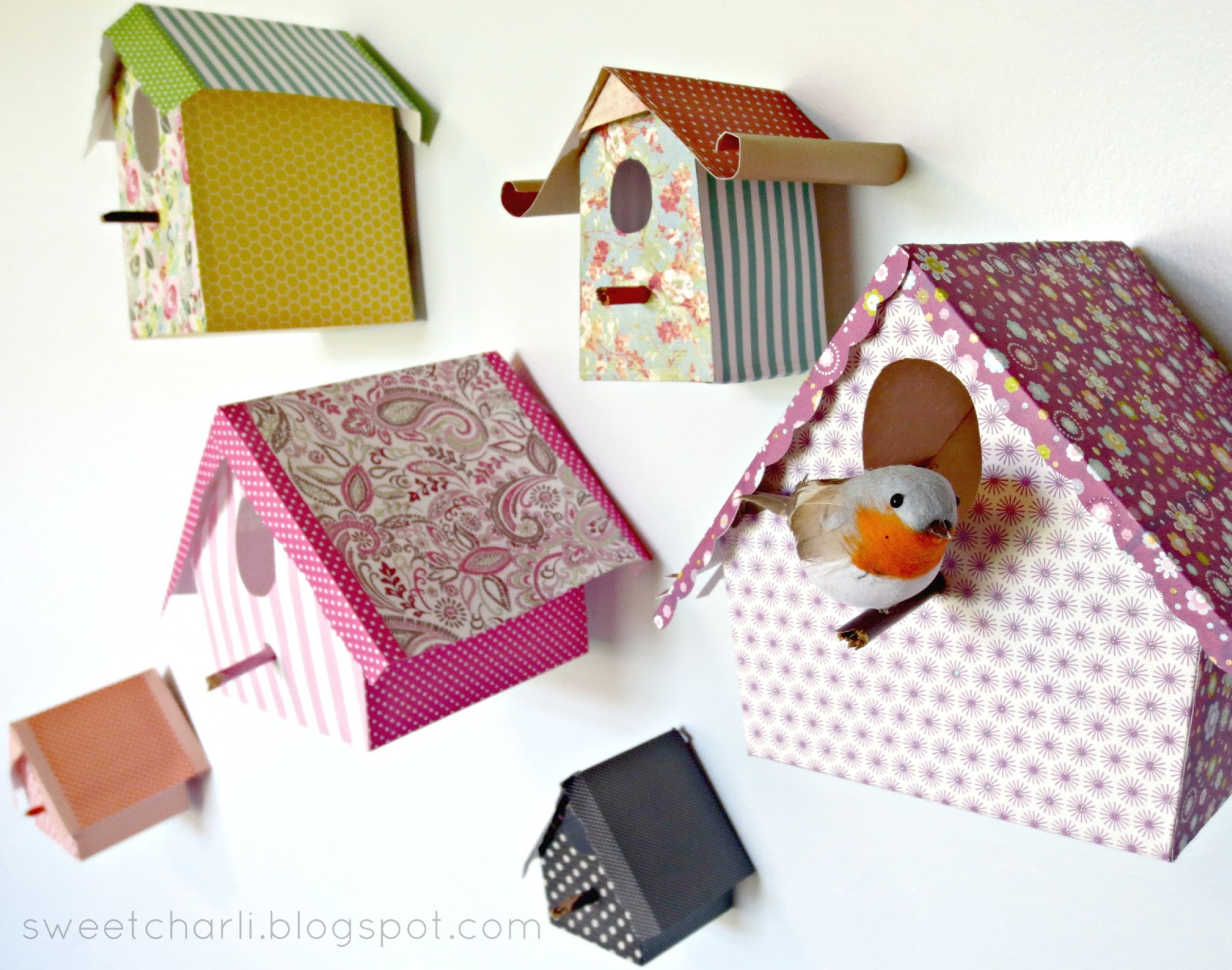How to make a bird house - Paper Bird Houses Whimsical