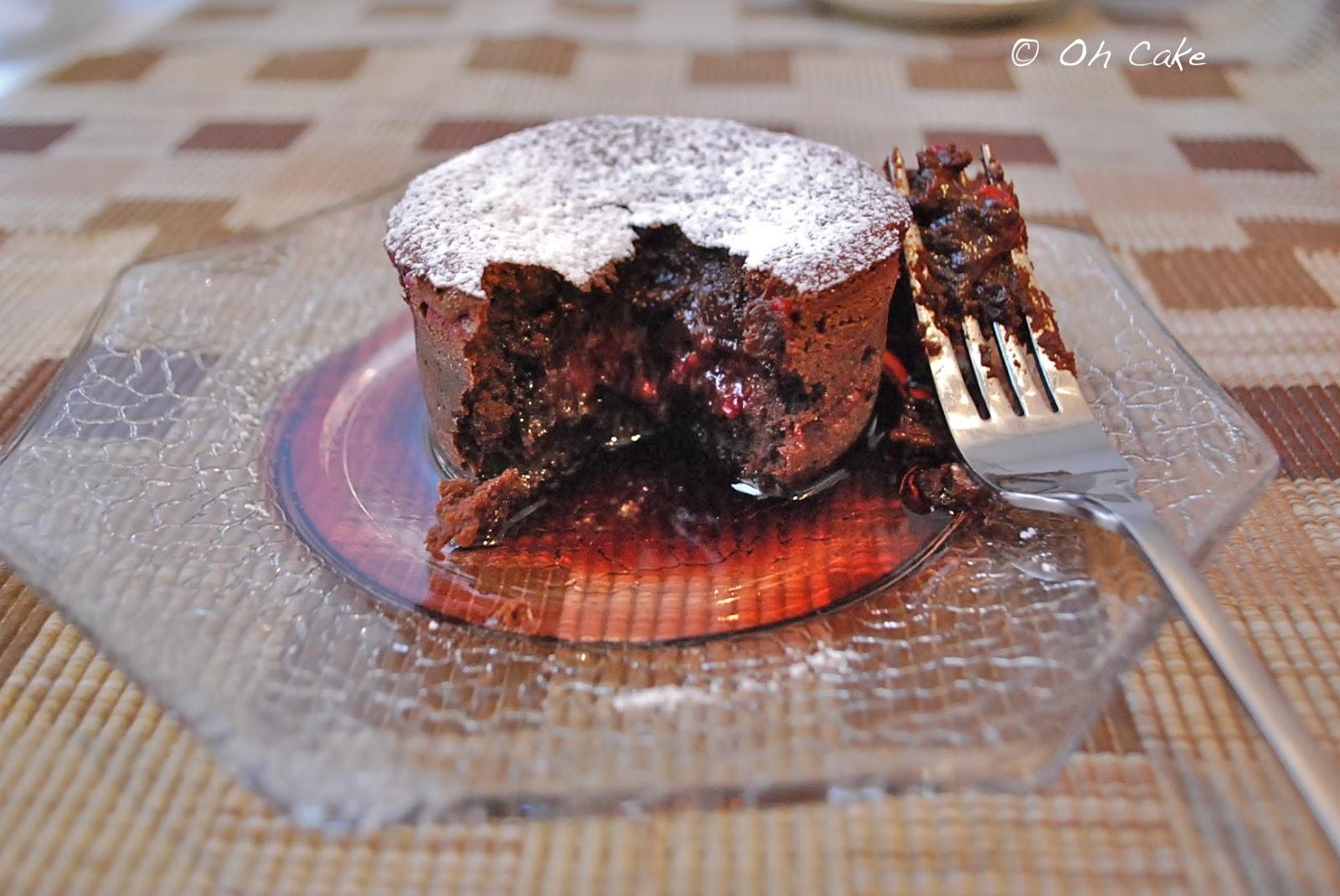 Molten Chocolate Cakes With Raspberries Recipe — Dishmaps