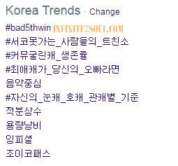 #Bad5thWin Trending Korea