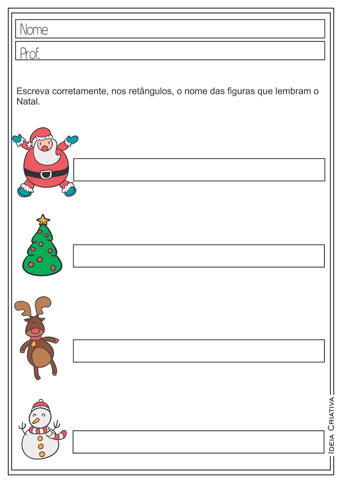 Atividades Educativas Auto Ditado Natal para Ensino Fundamental