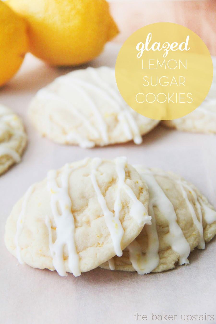 the baker upstairs: glazed lemon sugar cookies