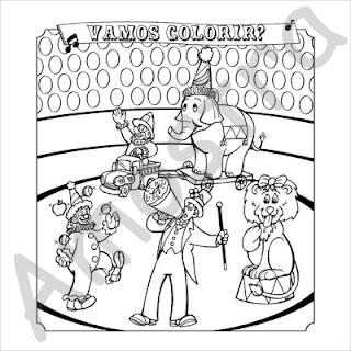 A Desenhar o grande circo   colorir