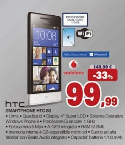 Se volete acquistare uno smartphone windows phone 8 a meno di 100 euro all'ora tenete in considerazione l'offerta natalizia sull'Htc 8s