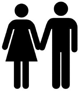 النساء والرجال يشبهون بعضهم فى الشكل اليوم أكثر مما مضى - man-and-woman-icon