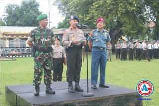 Polda NTB Gelar Apel Bersama Polri-TNI