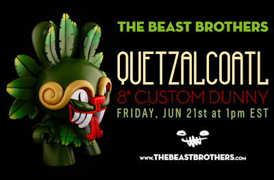 "Quetzalcoatl Custom 8"" Dunny Vinyl Figure by The Beast Brothers"