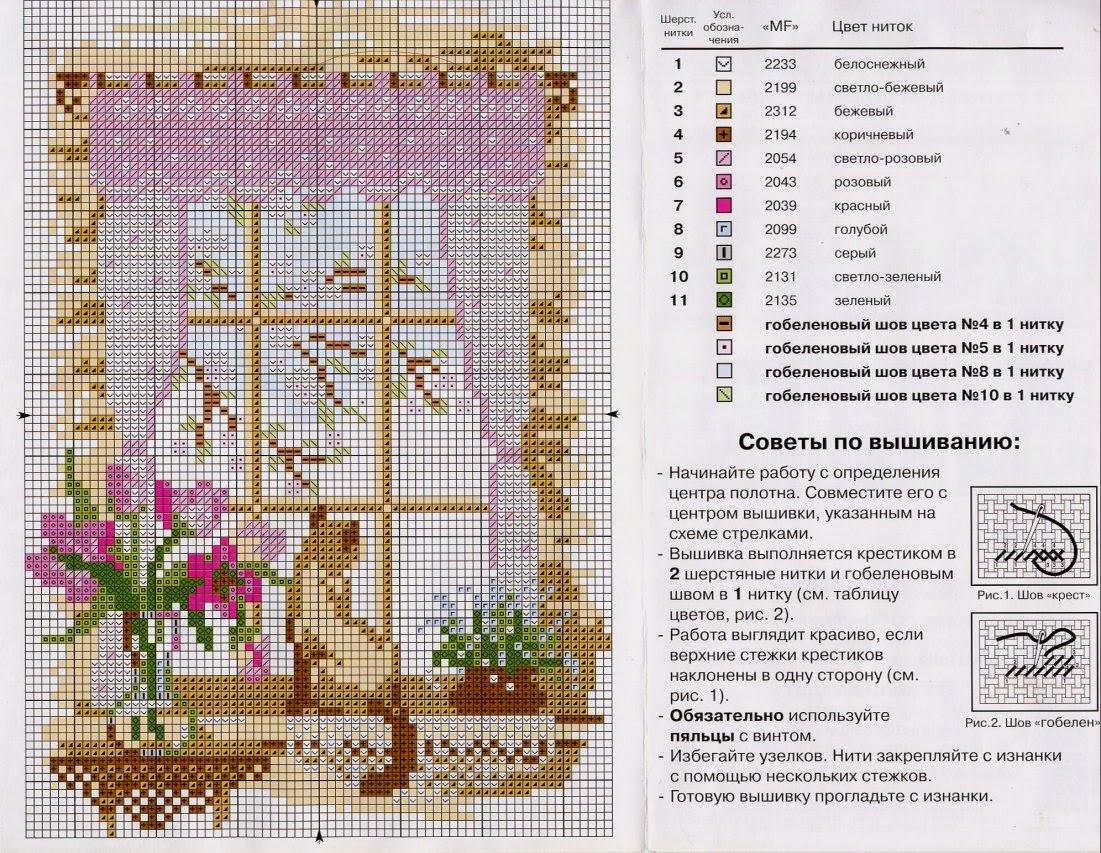 Вышивка крестом перевод на фото
