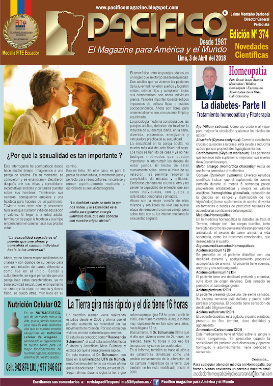 Revista Pacifico Nº 374 Novedades Científicas