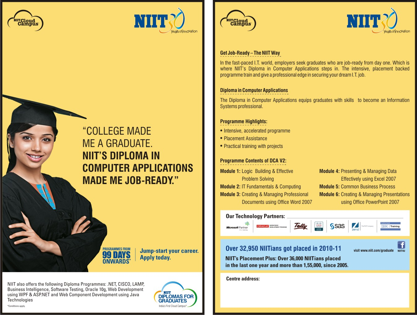 Diploma in computer applications niit chandannagar certificate in core programming yadclub Gallery