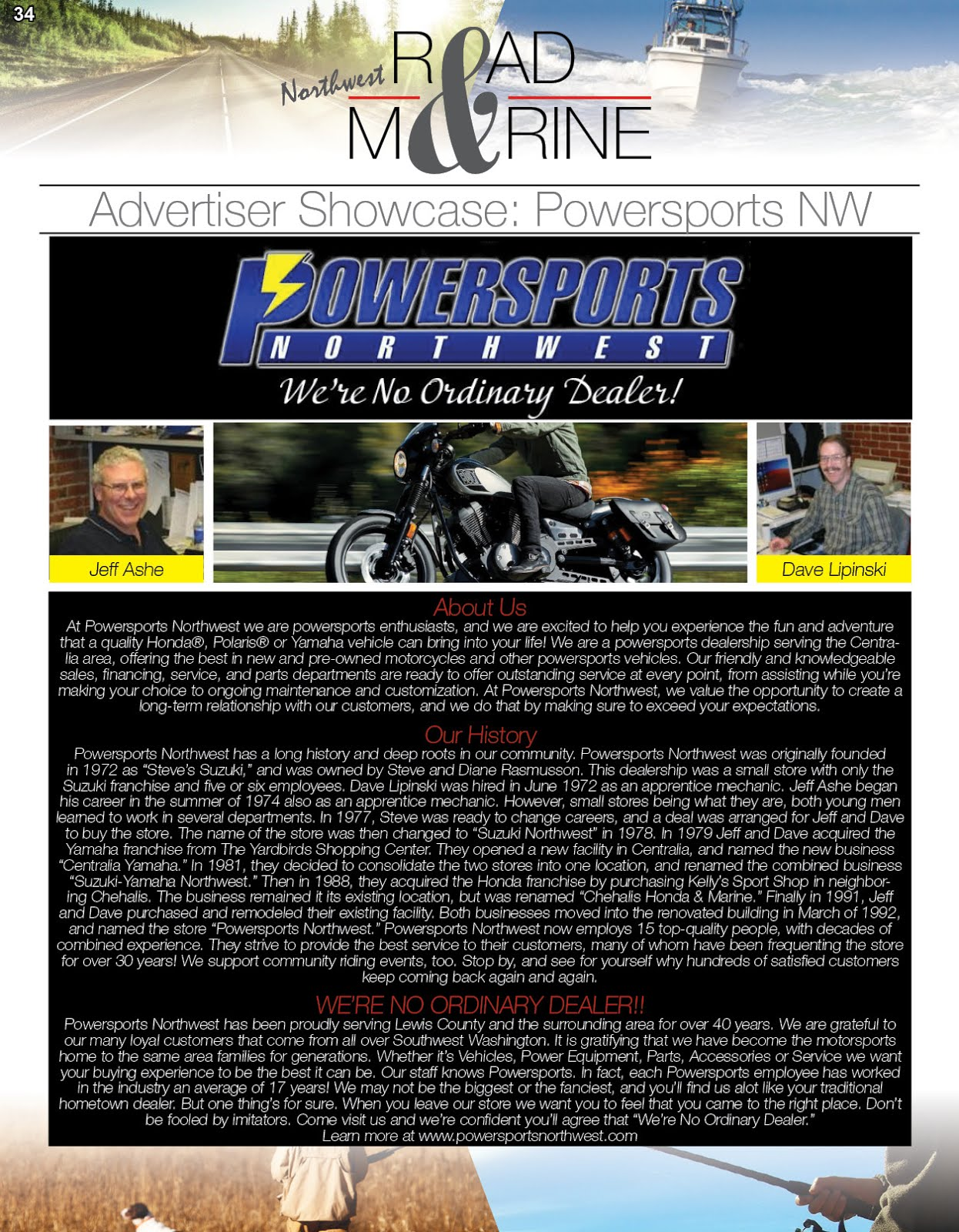 NW Road & Marine Advertiser Showcase: Powersports Northwest