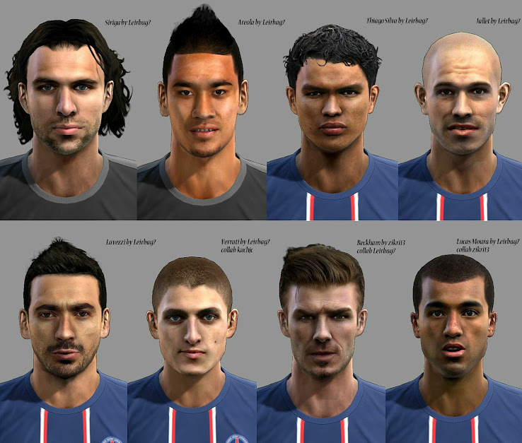 PES 2013 PSG Facepack by Leirbag7