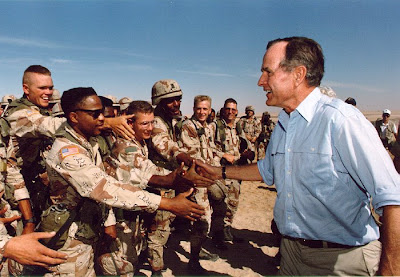 Syria: Intervention Inevitable   Bush troopsDesertStorm