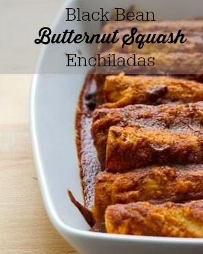Black Bean Butternut Squash Enchiladas Vegetarian meal